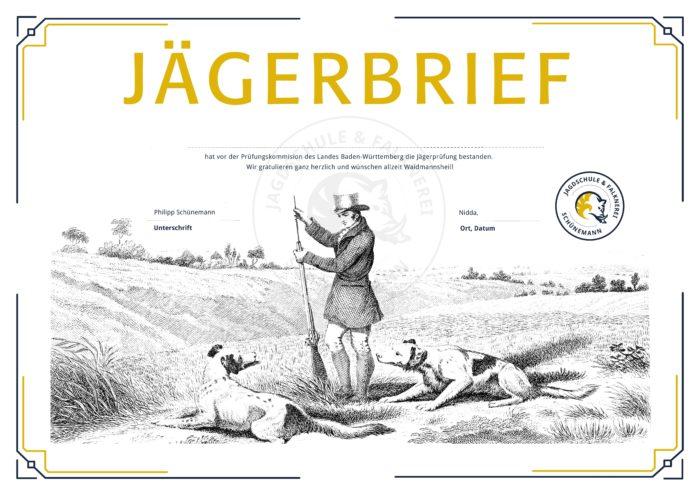 Jägerbrief - JagdSchule Nidda - Schünemann